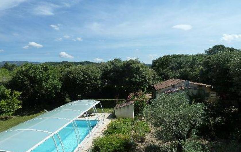 Location de vacances - Villa à Pernes-les-Fontaines - VUE AERIENNE MAISON ET PISCINE