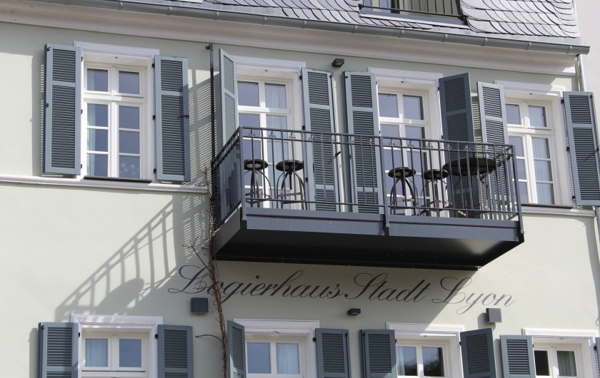 Location de vacances - Appartement à Bad Ems - Vue facade de l'appartement