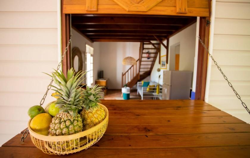 Location de vacances - Villa à Sainte-Anne - FOUFOU VUE DE LA TERRASSE