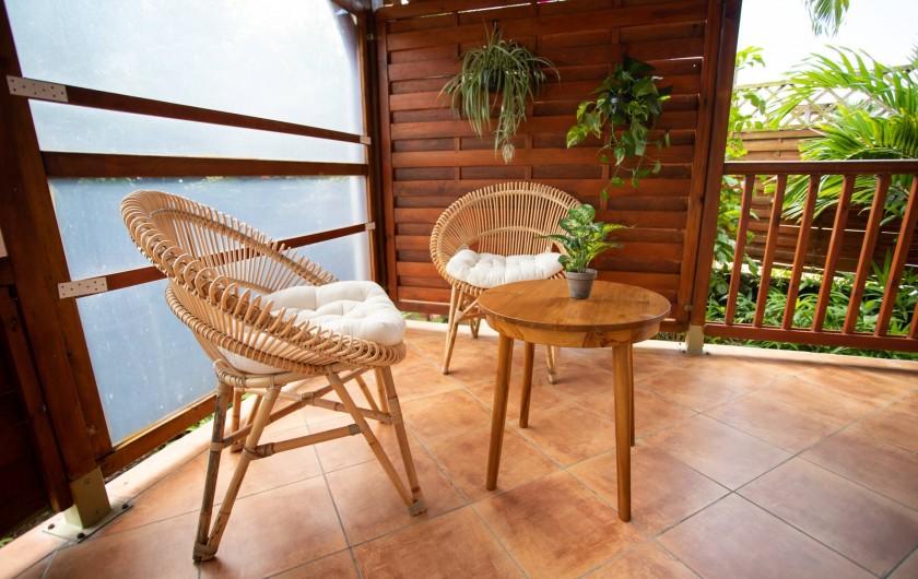 Location de vacances - Villa à Sainte-Anne - COIN TERRASSE VILLA PIPIRIT