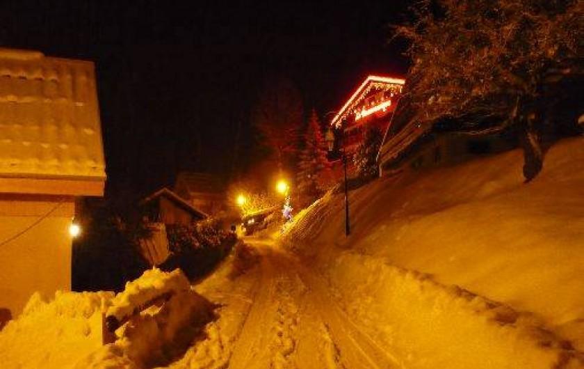 Location de vacances - Chalet à Mizoën - hiver au chalet