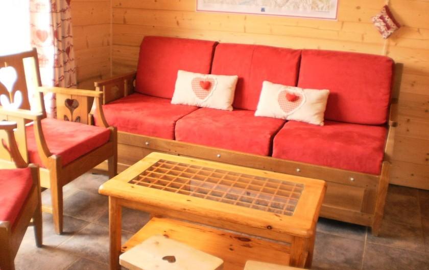 Location de vacances - Chalet à Mizoën - coin salon