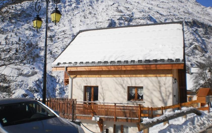 Location de vacances - Chalet à Mizoën - le chalet côté sud