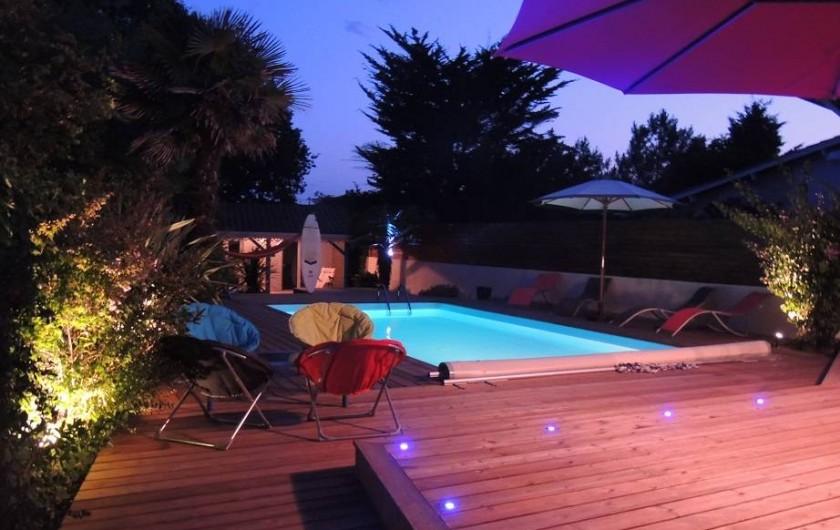 Location de vacances - Villa à Lacanau Océan - Eclairage la nuit