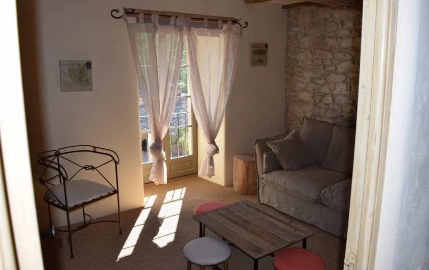 Location de vacances - Mas à Foissac - salle TV ou 6ème chambre avec canapé lit