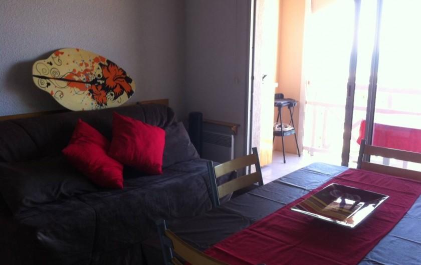 Location de vacances - Appartement à Saint-Pierre la Mer - Coin salon