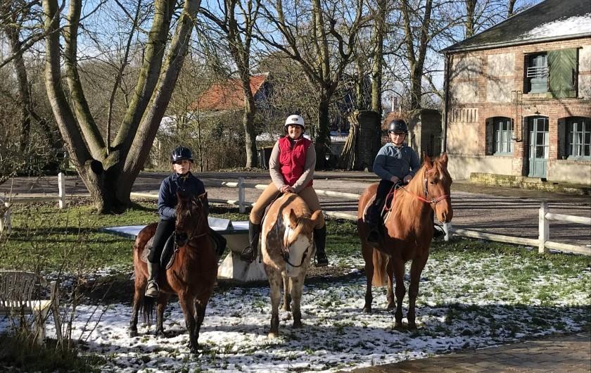 Location de vacances - Gîte à Ponthoile - Centre équestre sur place cours et découvertes à cheval