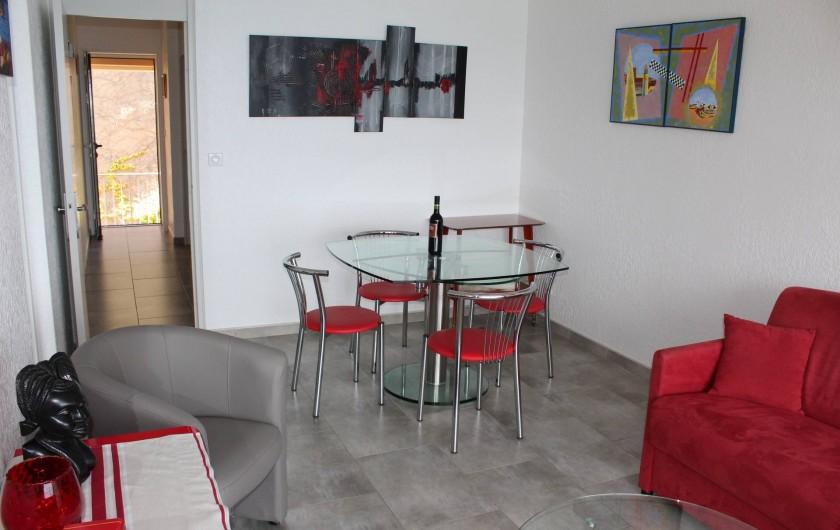 Location de vacances - Appartement à Banyuls-sur-Mer - Salle à manger Table extensible 8 pers