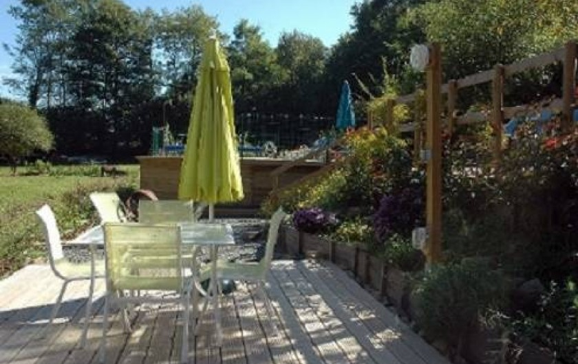 Location de vacances - Gîte à Saint-Perdoux - Terrasse Petit Gîte