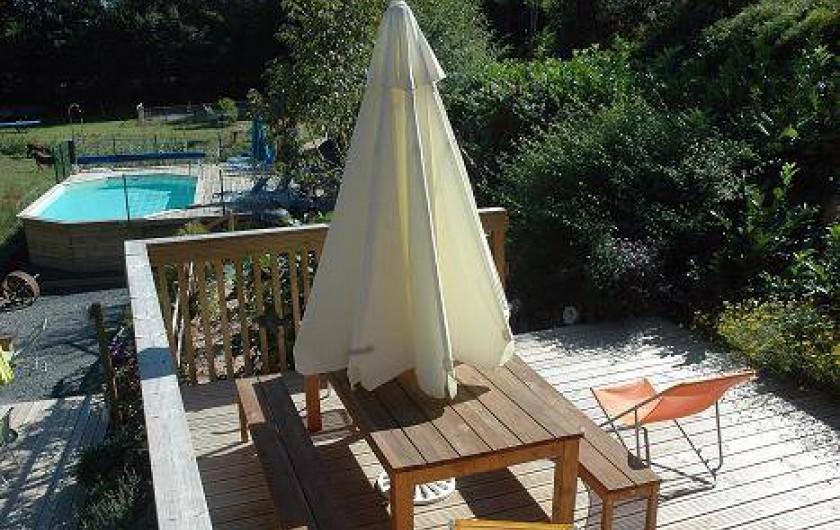 Location de vacances - Gîte à Saint-Perdoux - Terrasse Grand Gîte
