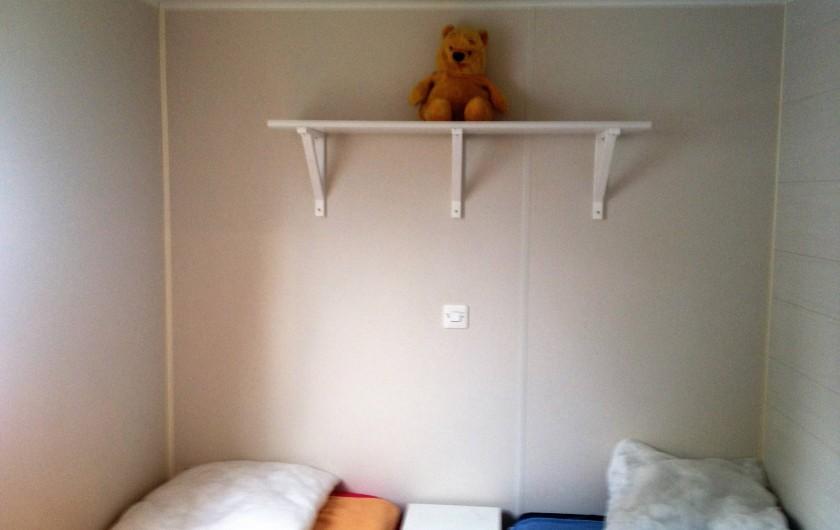 Location de vacances - Bungalow - Mobilhome à Sigean - chambre enfant ou 2 lits simples