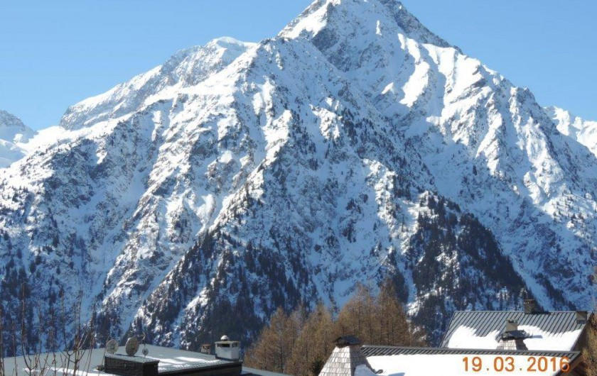 Location de vacances - Studio à Les Deux Alpes - toujours vue du balcon