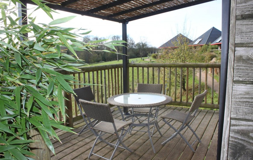 Location de vacances - Insolite à Hermival-les-Vaux - Terrasse Zoobservatoires