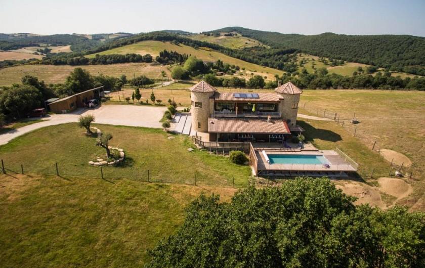 Location de vacances - Gîte à Villarzel-du-Razès - Appartements avec piscine collective