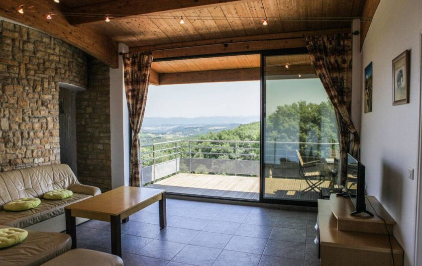 Location de vacances - Gîte à Villarzel-du-Razès - Apt EST - salon + terrasse