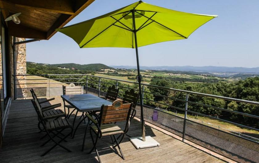 Location de vacances - Gîte à Villarzel-du-Razès - Apt EST - Vue terrasse