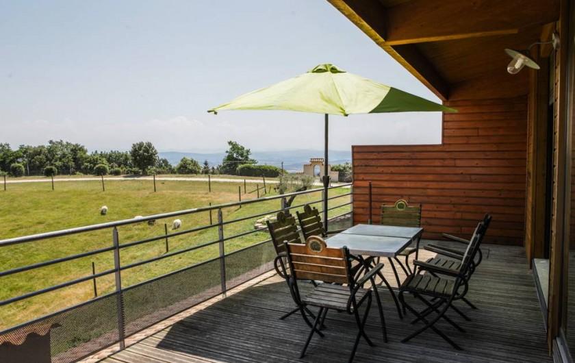 Location de vacances - Gîte à Villarzel-du-Razès - Apt OUEST - vue terrasse