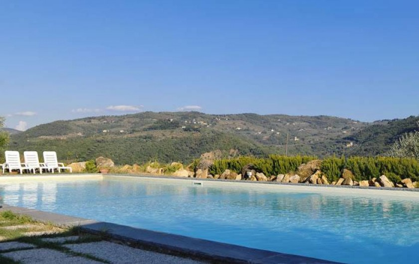 Location de vacances - Appartement à San Jacopo Al Girone - Vue de la Piscine