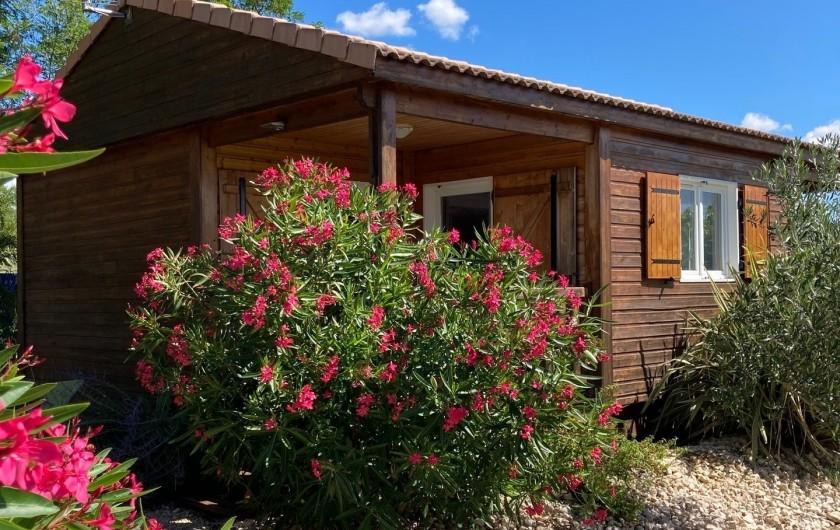 Location de vacances - Gîte à Ruoms - chalet Merlot 49m²