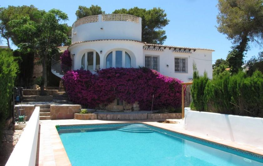 Location de vacances - Villa à Xàbia - Vue exterieure villa