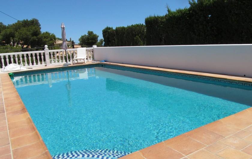 Location de vacances - Villa à Xàbia - piscine