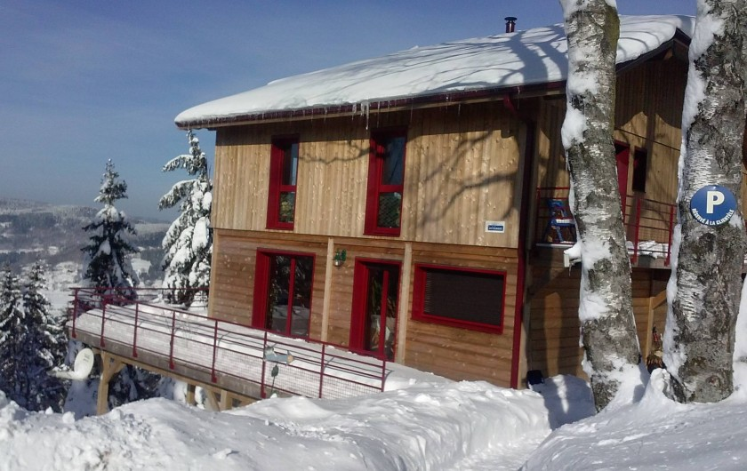 Location de vacances - Chalet à Le Tholy - Chalet en hiver
