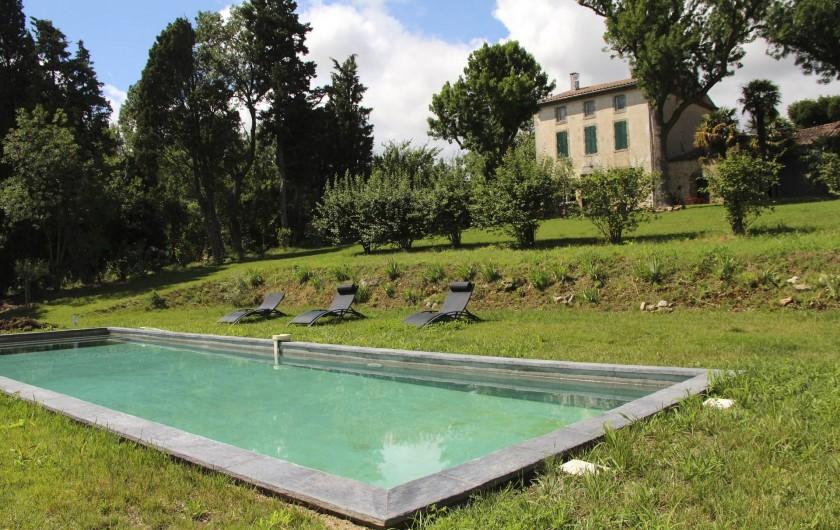Location de vacances - Mas à Carcassonne - Piscine.