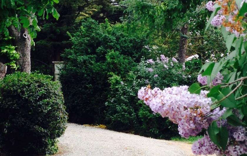 Location de vacances - Mas à Carcassonne - Printemps et les portes de la maison.