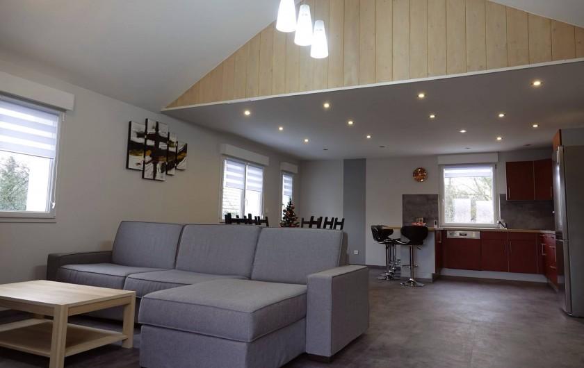 Location de vacances - Gîte à Ranspach - Séjour, Cuisine