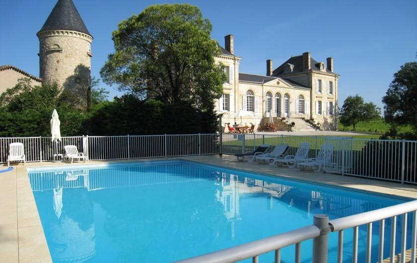 Location de vacances - Château - Manoir à Beychac-et-Caillau - Piscine 7m x 14m