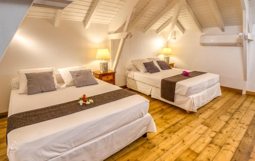 Location de vacances - Hôtel - Auberge à Saint-François - Chambre à l'étage des villas St Martin ou St Barthélémy
