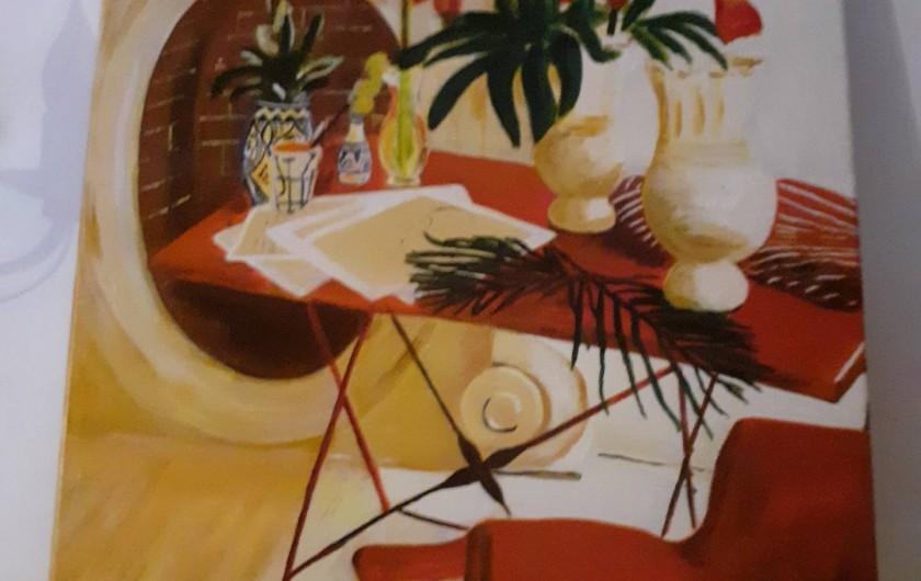Location de vacances - Bungalow - Mobilhome à Le Buisson-de-Cadouin - Un des mes tableaux exposé dans la salle des petits déjeuners