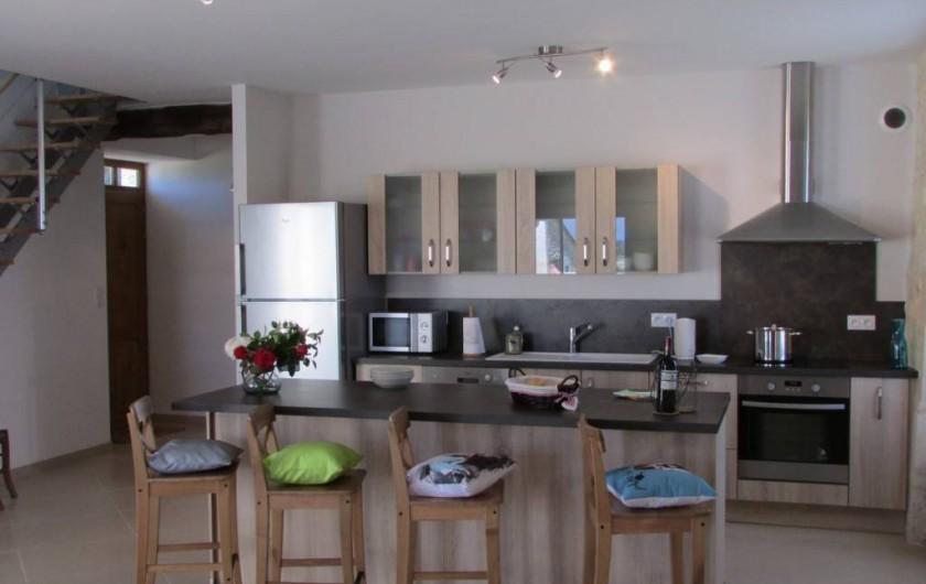 Location de vacances - Villa à Riocaud - Cuisine ouverte entièrement équipée