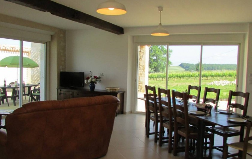 Location de vacances - Villa à Riocaud - La salle de séjour