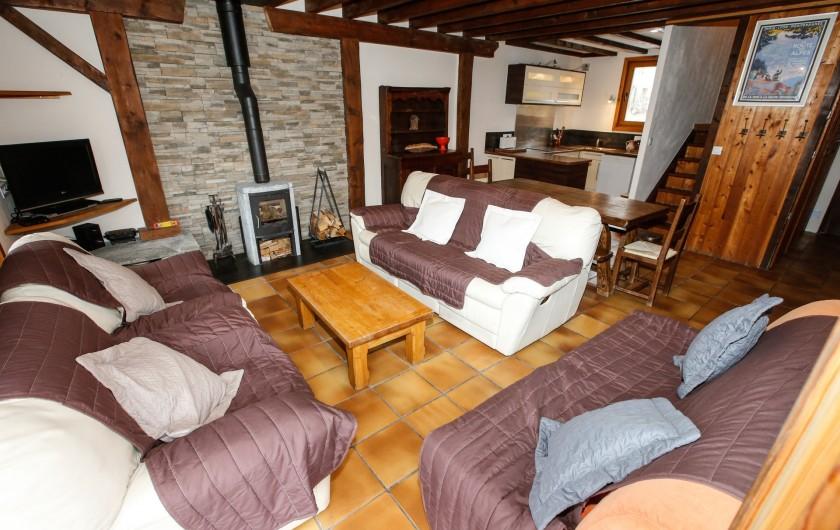 Location de vacances - Appartement à Le Monêtier-les-Bains - Pièce de vie