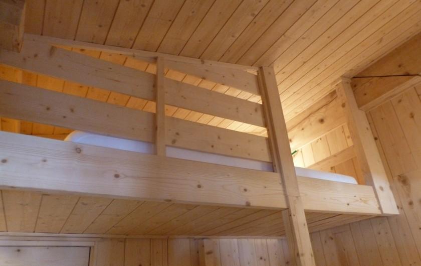 Location de vacances - Studio à L'Alpe d'Huez - détail des lits superposés