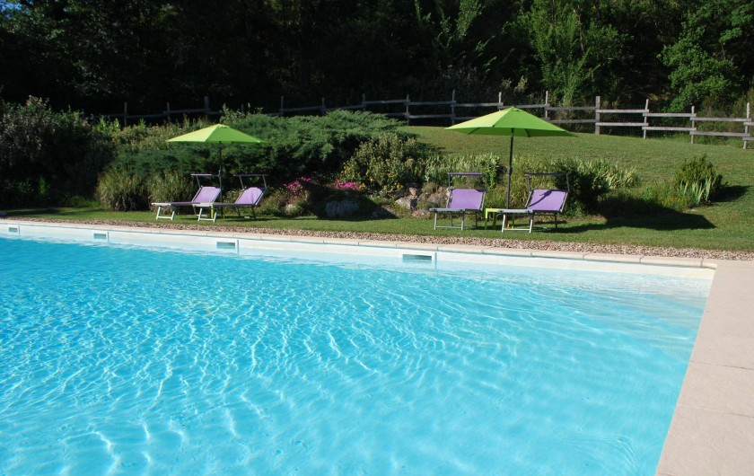 Location de vacances - Chalet à Vergt-de-Biron - Piscine