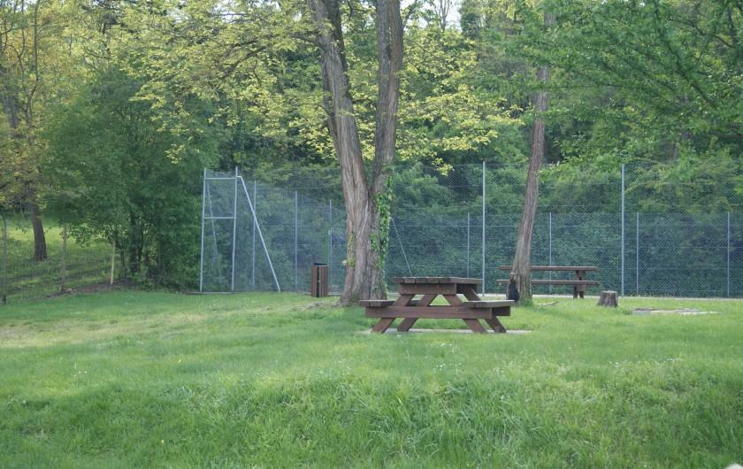 Location de vacances - Gîte à Hunawihr - Espace tables & bancs