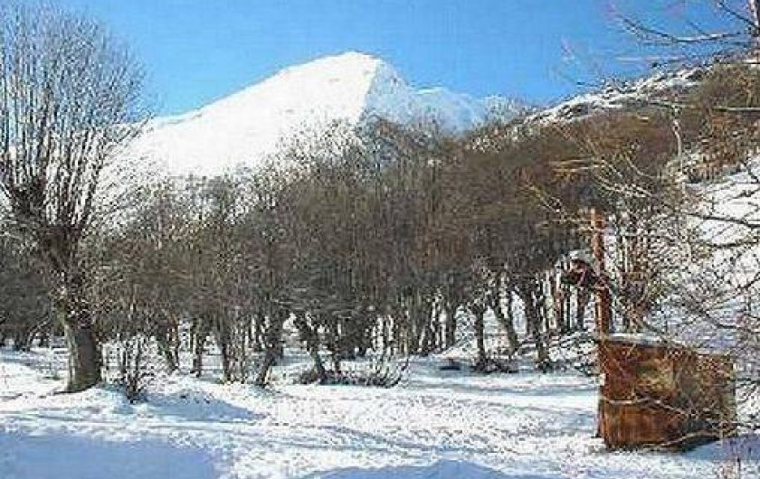 Location de vacances - Chalet à Valloire - vue du salon hiver