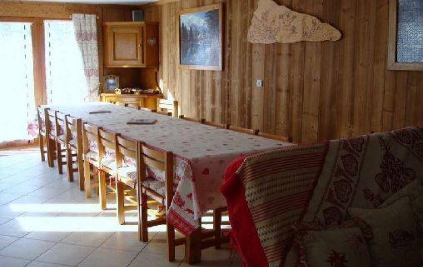 Location de vacances - Chalet à Valloire - coté salle à manger