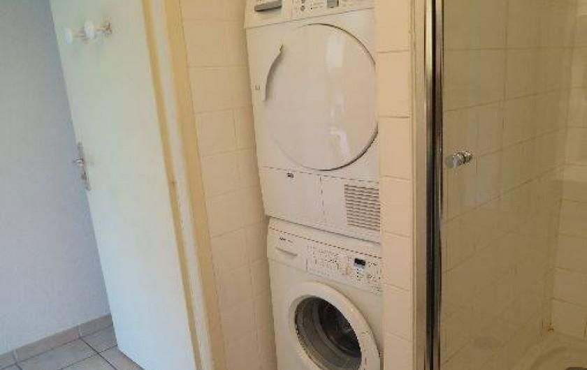 Location de vacances - Appartement à Gérardmer - Machine à laver et sèche linge