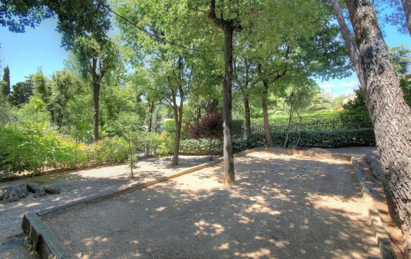 Location de vacances - Villa à Valbonne - Jeu de pétanque (boules fournies)