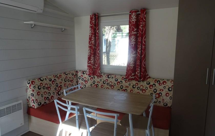 Location de vacances - Bungalow - Mobilhome à Salses-le-Château - coin salon