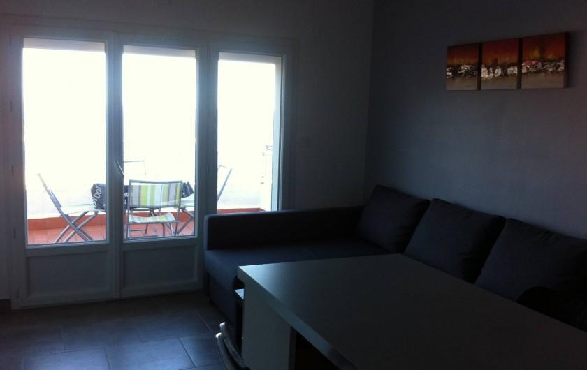 Location de vacances - Appartement à Tossa de Mar - SALLE DONNANT SUR TERRASSE