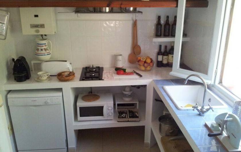 Location de vacances - Villa à Cap de Barbaria - Kitchen. Not in the picture a gas oven, a fridge-freezer and a whashing machine