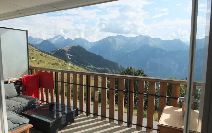 Location de vacances - Appartement à L'Alpe d'Huez - VUE TERRASSE