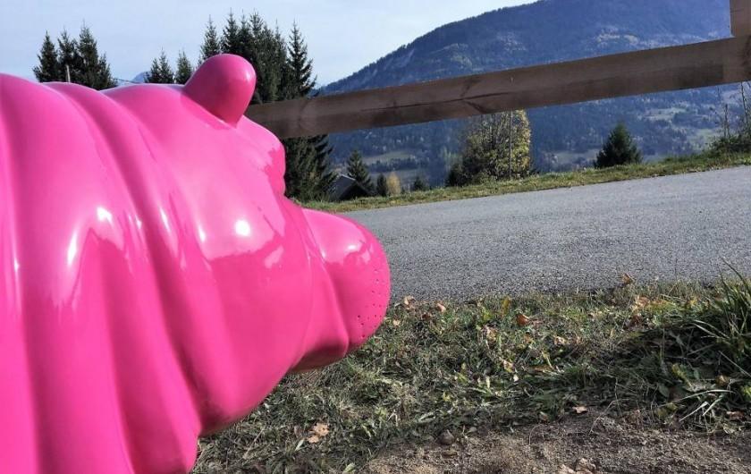 Location de vacances - Chalet à Les Avanchers-Valmorel - Un hippotame rose à 1500 mètres... c'est possible !