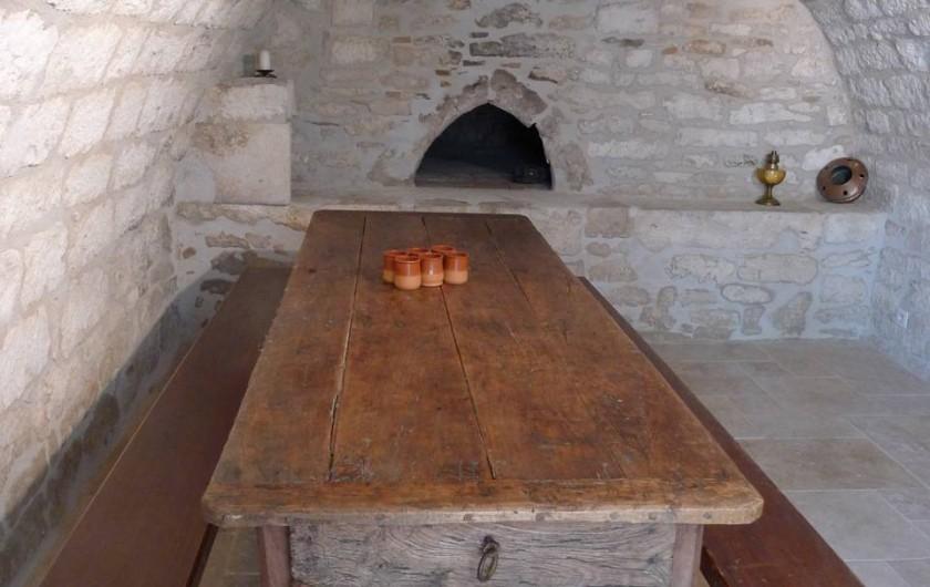 Location de vacances - Mas à Labastide-Marnhac - Four a pain  voûté avec  lit d'appoint