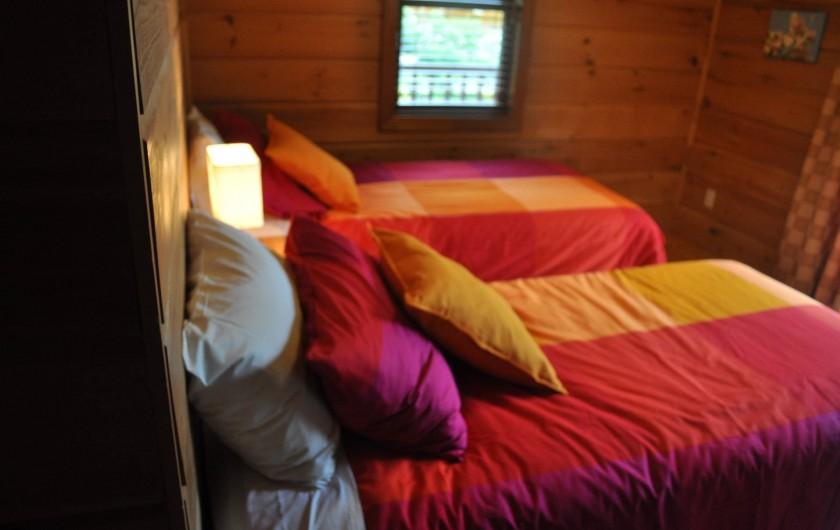 Location de vacances - Chalet à Val-David - Chambre JOIE DE VIVRE - possible en lit king