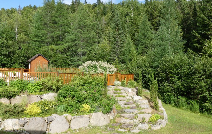 Location de vacances - Chalet à Val-David - Jardin